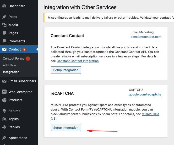 How do I add Captcha to contact form 7