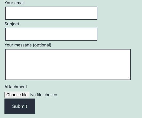 Contact Form Upload File WordPress Plugin
